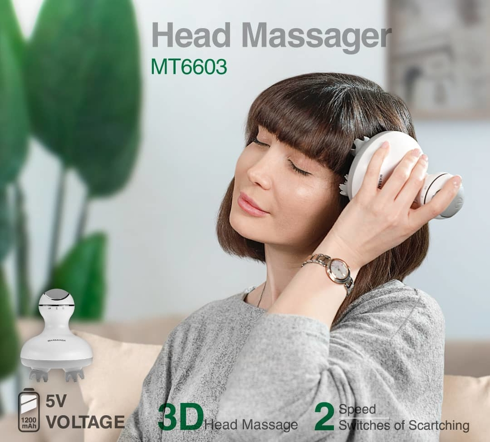 Waterproof Portable Self Head Massage Tools MT6603