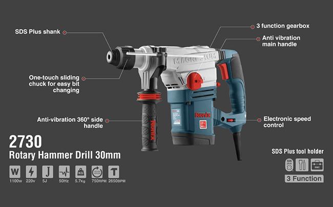 Rotary Hammer Drill 30mm 2730