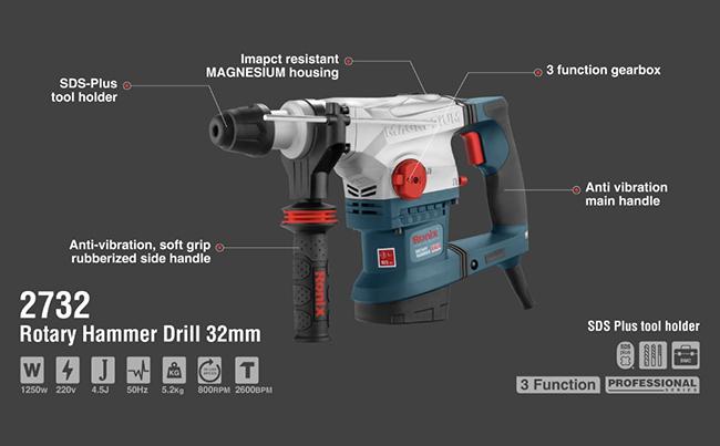 Rotary Hammer Drill 32mm 2732