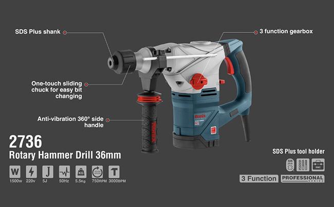 Rotary Hammer Drill 36mm 2736