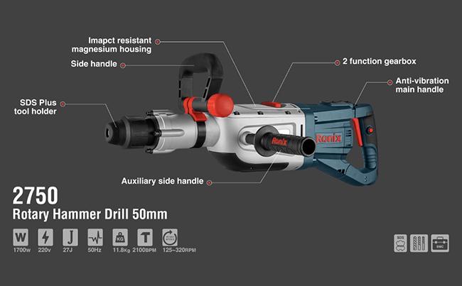 Rotary Hammer Drill 50mm 2750