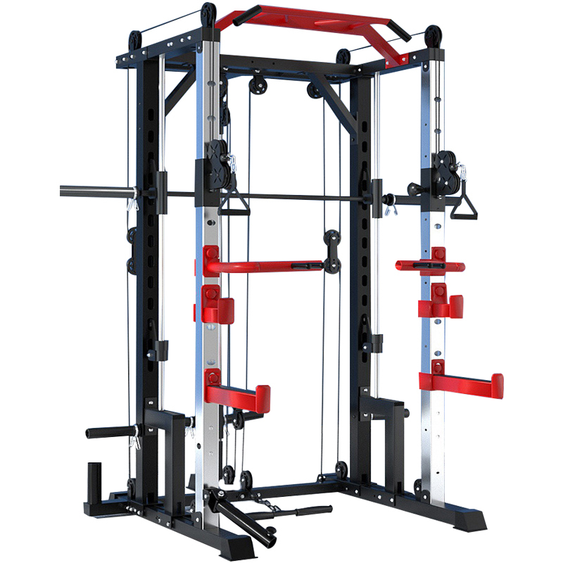 Ronix ST6804 Multi-function Trainer Commercial Bodybuilding Home Gym Fitness Equipment Power Rack Stan Smith Machine