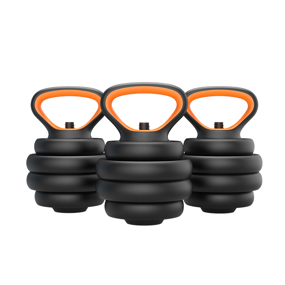 Ronix ST1815 Fitness Equipment 6 in 1 Rubber-coated Removable Barbell Kettlebell