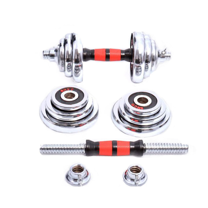 Ronix ST1809 15/20/30/50kg Electroplating Plate Cast Iron Weights Cheap Adjustable Dumbbell Set