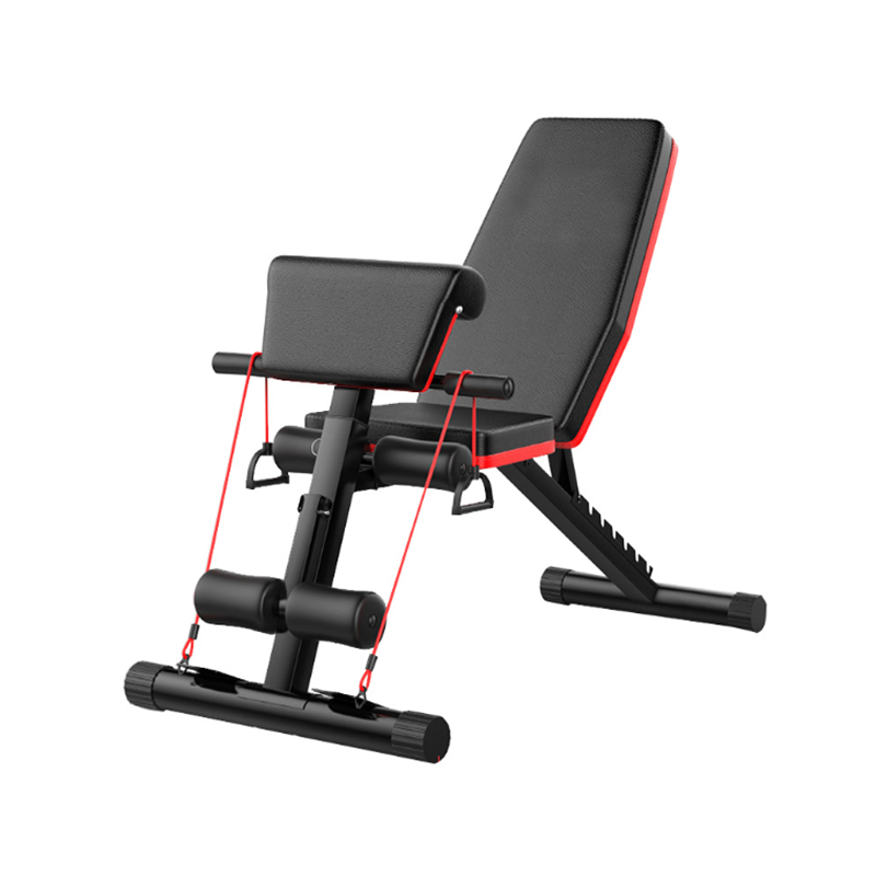 Ronix ST6660 Foldable Strength Training Fitness Equipment Bench Press Barbell Bed Squat Rack Gym Weight Lifting Bench