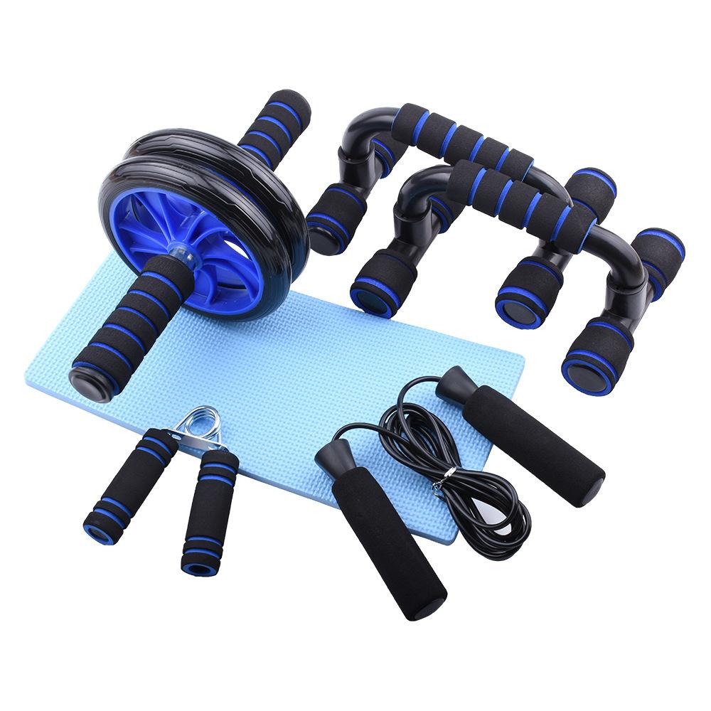 Ronix ST1454 Ab Wheel with Ergonomic Grip And Push Up Bars Gym Exercise Cardio Training Abdominal Rollers Set
