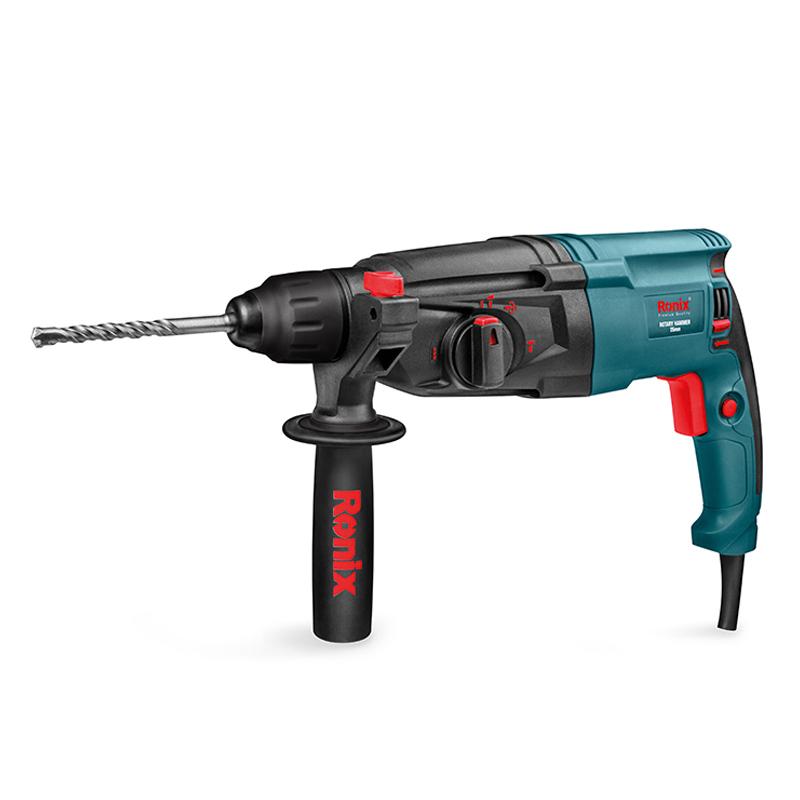 Ronix New 26mm power tools, 800w 3J Rotary Hammer Model 2701