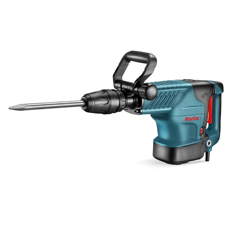 Ronix 1500W HEX Demolition Hammer, Power Tool Demolition Hammer Spare Parts 2812